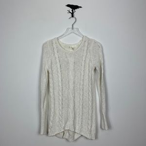 Kaisely Ivory Cable Knit Sweater